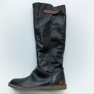 LiLiMill  new dark brown leather boots size 36